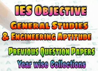 General Studies & Engineering Aptitude IES Objective Previous Years Papers