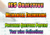 IES Mechanical Engineering Objective Previous Years Papers