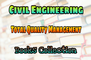 Total Quality Management Books