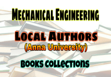 Mechanical Engineering Local Authors (Anna University) Books