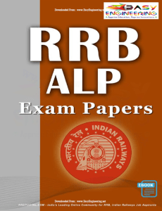 RRB Assistant Loco Pilot (ALP) Exam Papers with Key