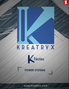 Power Systems Kreatryx Study Materials