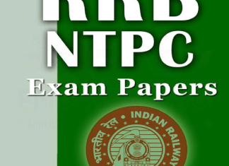 RRB Non Technical Popular Categories (NTPC) Exam Papers with Key