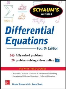 Schaum's Outline of Differential Equations By Richard Bronson, Gabriel Costa