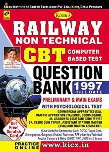 Kiran's Railway Non-Technical CBT Question Bank 1997 till Date - 2047