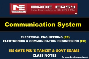COMMUNICATION SYSTEM Handwritten Made Easy IES GATE PSU's TNPSC TRB TANCET SSC JE AE AEE & GOVT EXAMS Study Materials