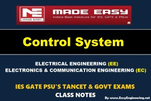 CONTROL SYSTEM Handwritten EasyEngineering Team IES GATE PSU's TNPSC TRB TANCET SSC JE AE AEE & GOVT EXAMS Study Materials