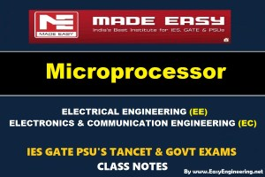 MICROPROCESSORHandwritten EasyEngineering Team IES GATE PSU's TNPSC TRB TANCET SSC JE AE AEE& GOVT EXAMS Study Materials