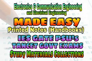 Made Easy IES GATE PSU's TNPSC TRB TANCET SSC JE AE AEE & GOVT EXAMS Study Materials