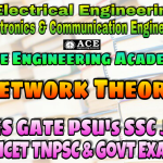 NETWORK THEORYACE Engineering Academy IES GATE PSU's TNPSC TANCET & GOVT EXAMS Study Materials