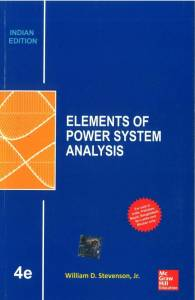 Elements of Power System Analysis By William D Stevenson Jr