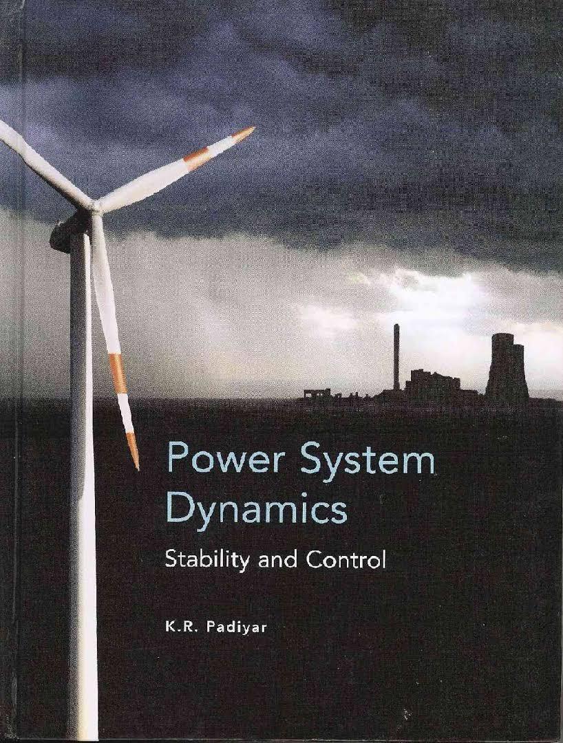 Power System Dynamics By Kr Padiyar Pdf