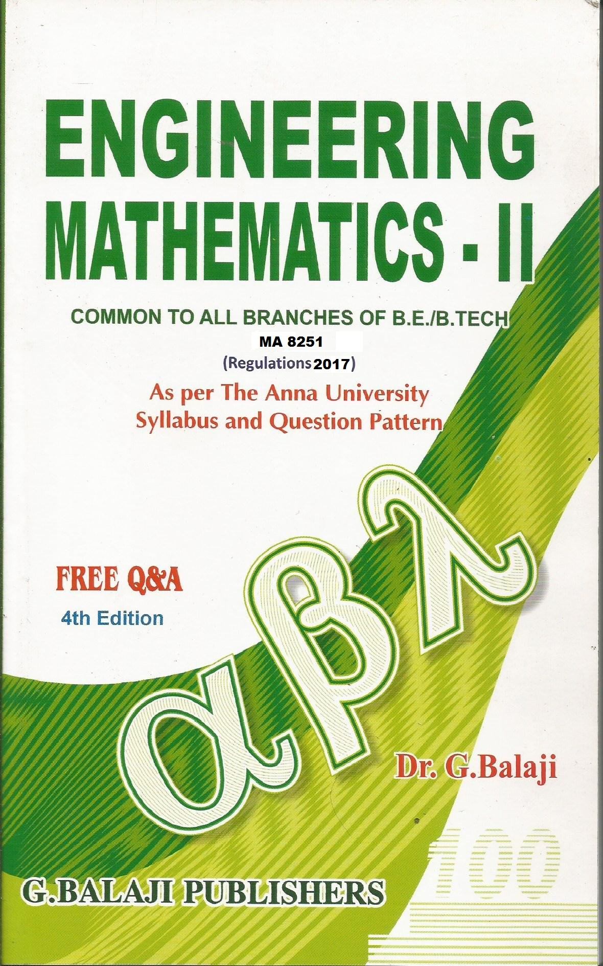 MA8251 Engineering Mathematics II (EM-II)