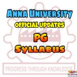 Anna University PG Syllabus
