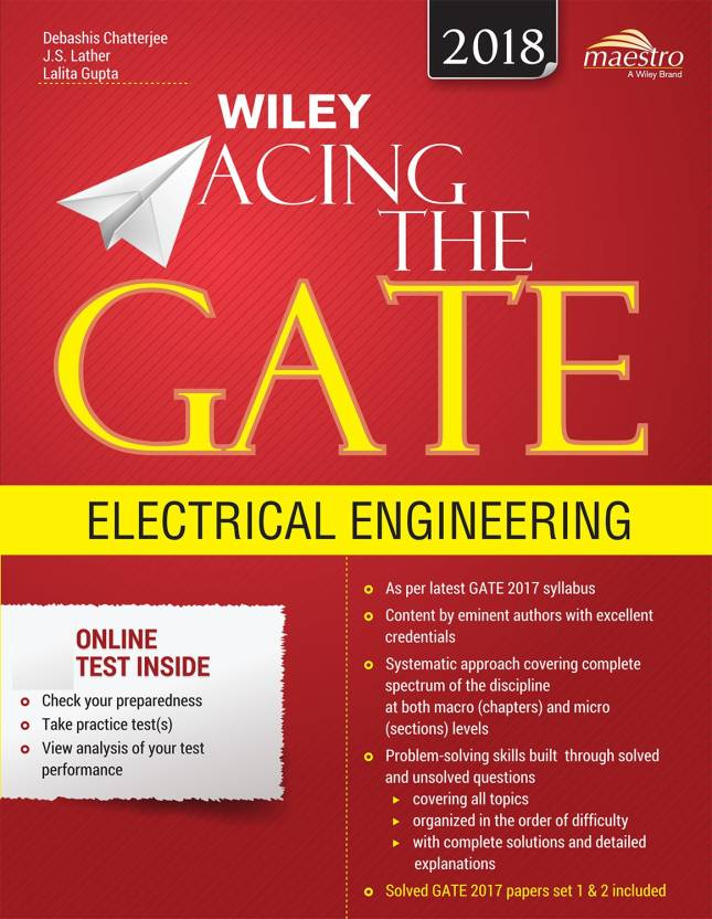 Wiley Acing The Gate: Electrical Engineering By J.S. Lather, Lalita Gupta, Debashish Chatterjee