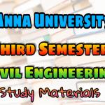Anna University Civil Engineering Third Semester