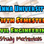 Anna University Civil Engineering Fifth Semester