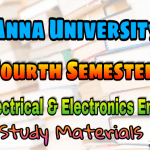 Anna University Electrical and Electronic Engineering Fourth Semester