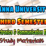 Anna University Electronics and Communication Engineering Third Semester