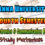 Anna University Electronics and Communication Engineering Fourth Semester