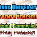 Anna University Electronics and Communication Engineering Seventh Semester