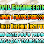 Sri Krishna Institute Highway & Traffic Engineering Handwritten Classroom Notes