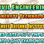 Sri Krishna Institute Concrete Technology Handwritten Classroom Notes