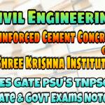 Sri Krishna Institute Reinforced Cement Concrete (RCC) Handwritten Classroom Notes