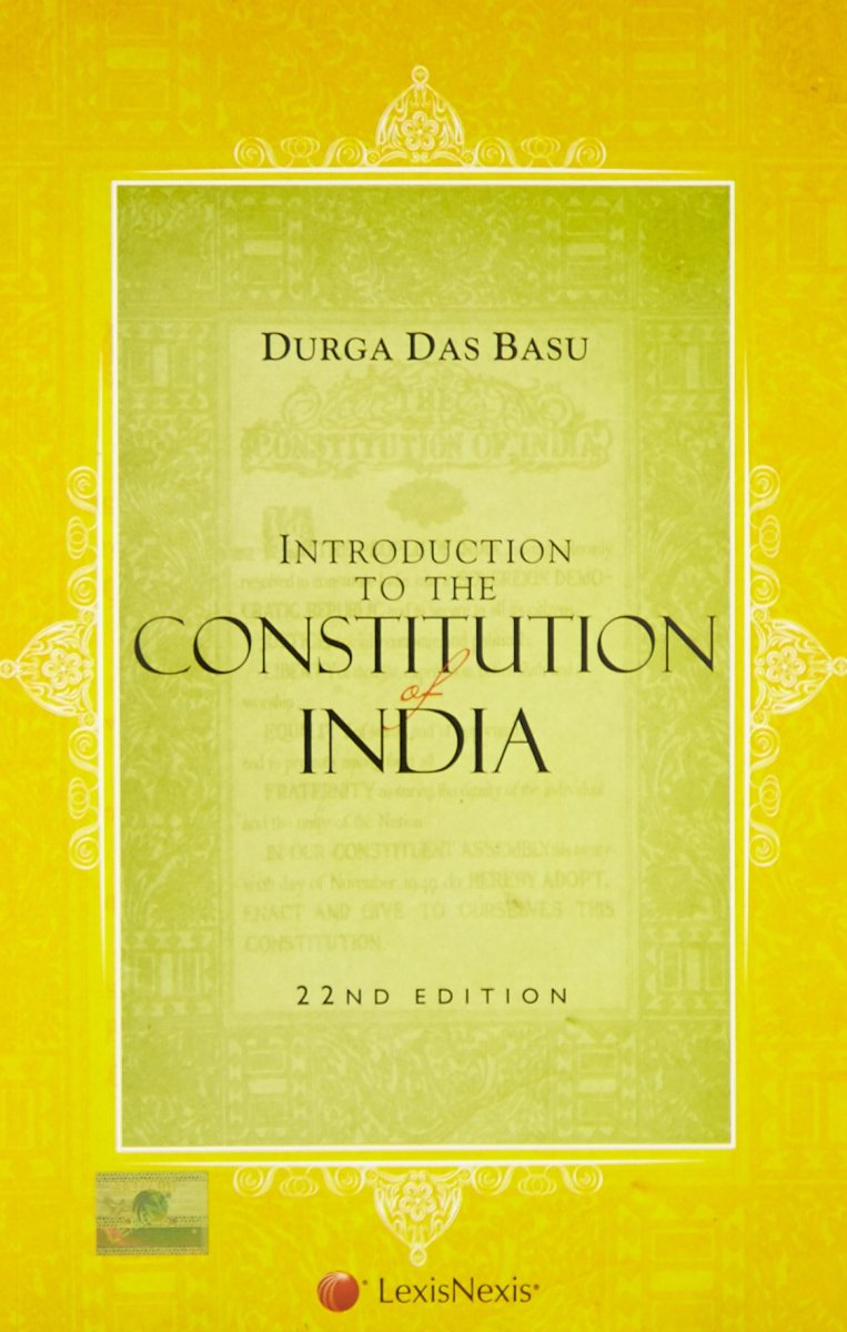 Introduction to the constitution of india by dd basu pdf book ias.
