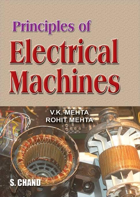 PDF] Principle of Electrical Machines By V K  Mehta, Rohit Mehta