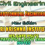 Sri Krishna Institute Geotechnical Engineering Handwritten Classroom Notes