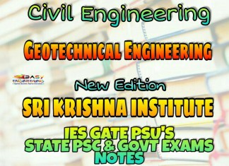 Sri Krishna Institute Geotechnical Engineering Handwritten Classroom Notes