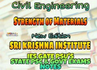 Sri Krishna Institute Strength of Materials Handwritten Classroom Notes