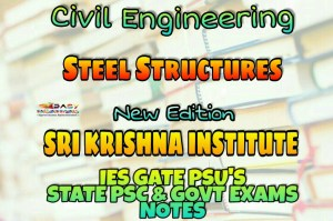 Sri Krishna Institute Steel Structures Handwritten Classroom Notes