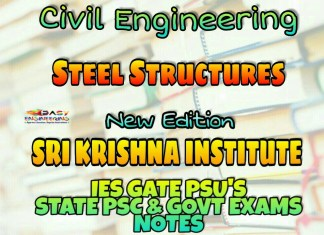 Sri Krishna Institute Steel Structures Handwritten Classroom Notes