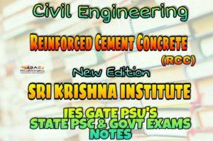 Sri Krishna Institute Reinforced Cement Concrete Handwritten Classroom Notes