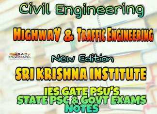 Sri Krishna Institute Highway & Traffic Engineering Handwritten Classroom Notes