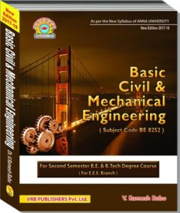 Pdf Be8252 Basic Civil And Mechanical Engineering Books Lecture Notes 2marks With Answers Important Part B 13marks Questions Question Bank Syllabus Easyengineering