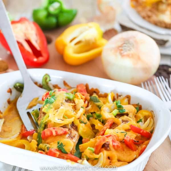 Baked Chicken Fajita Casserole - Easy and Healthy!