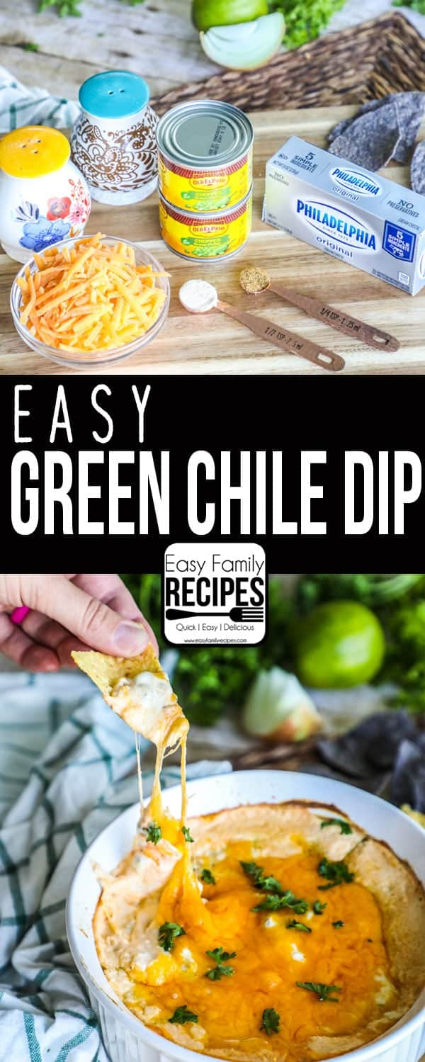 Easy Green Chile Dip - This stuff is addicting!