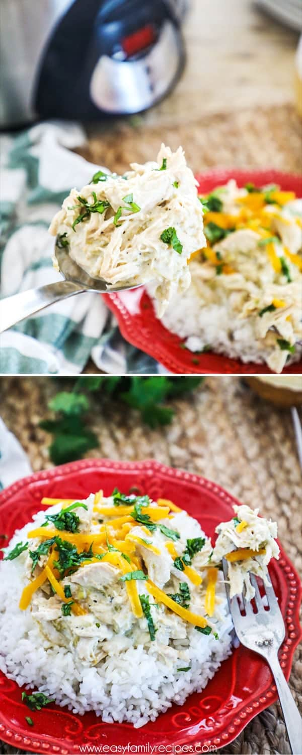 Slow cooker green chile chicken recipe