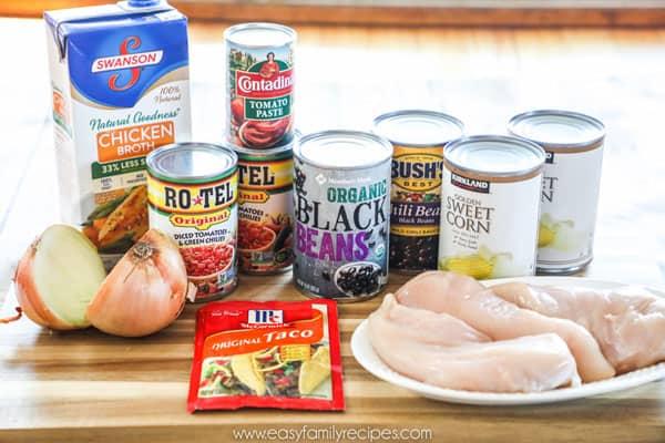 Pressure Cooker Chicken Chili Ingredients