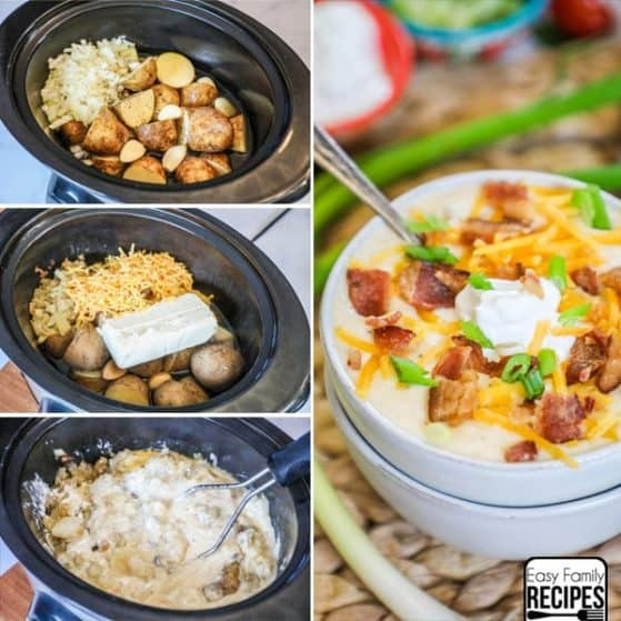 Loaded Baked Potato Soup Crock Pot