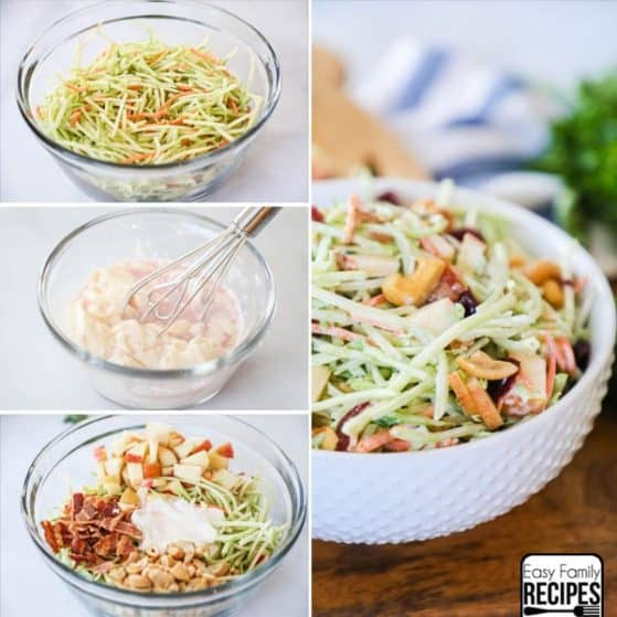 Broccoli Slaw Recipe with homemade dressing