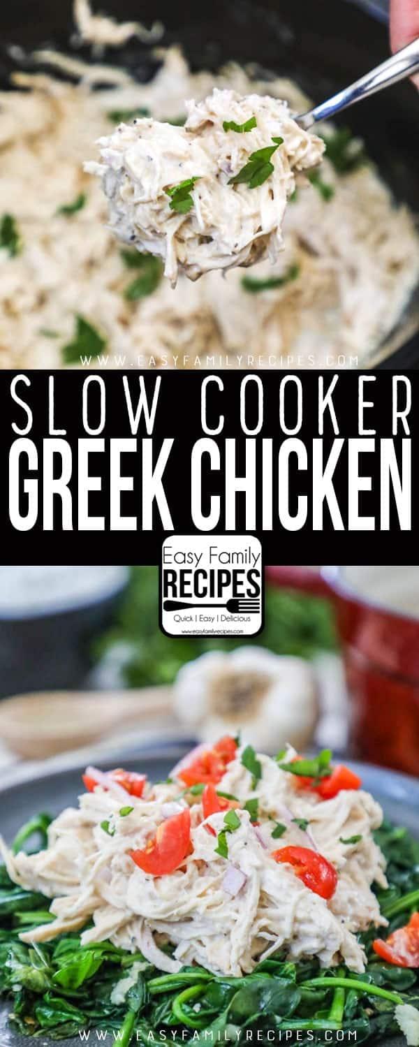 The BEST Creamy Greek Chicken