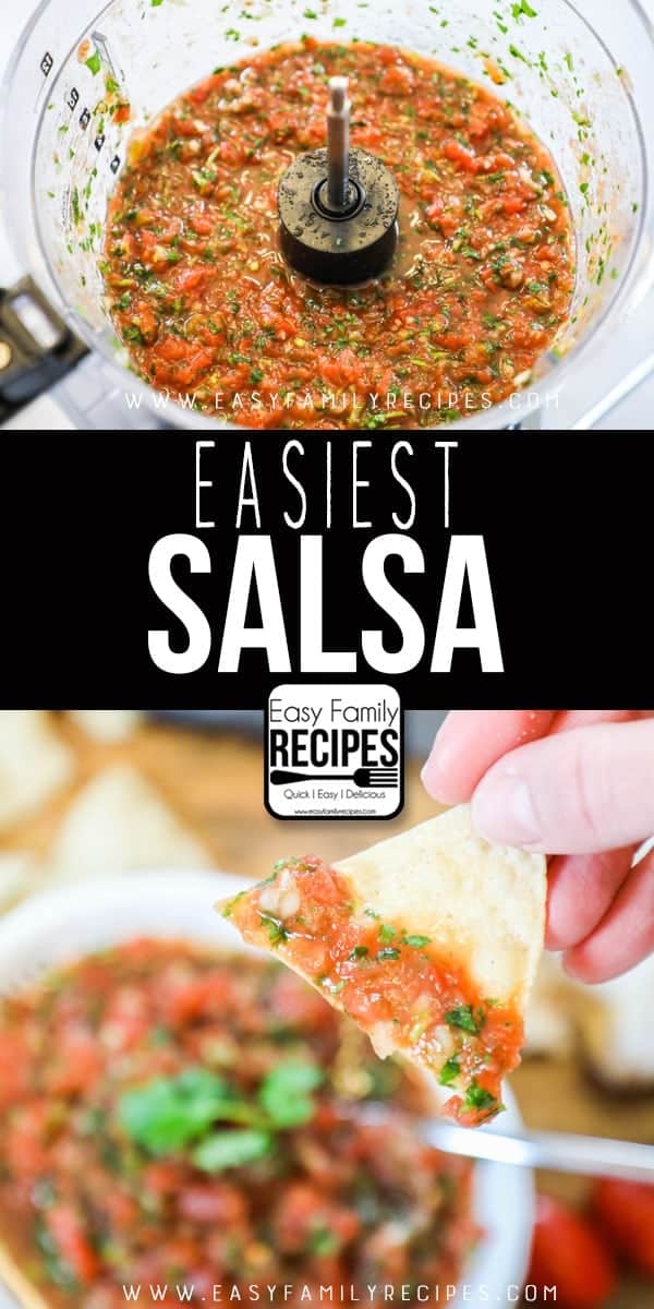 EASIEST & BEST Homemade Salsa