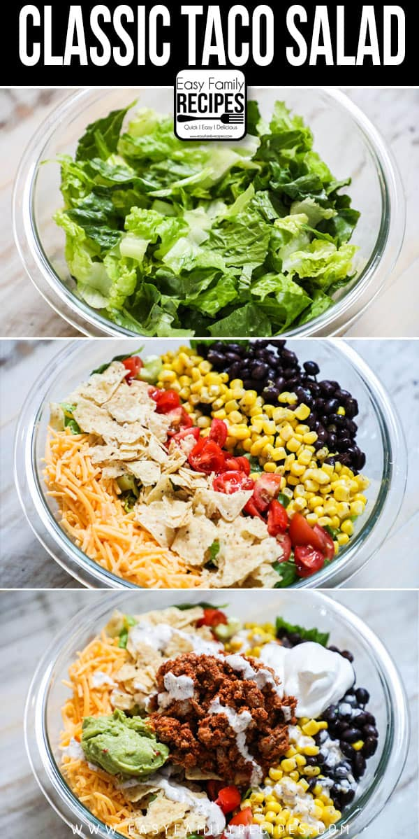 SO GOOD! How to Make Taco Salad from scratch