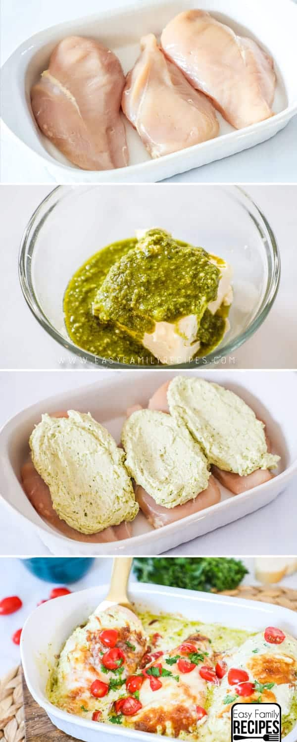 How to make Low Carb/Keto Pesto Chicken