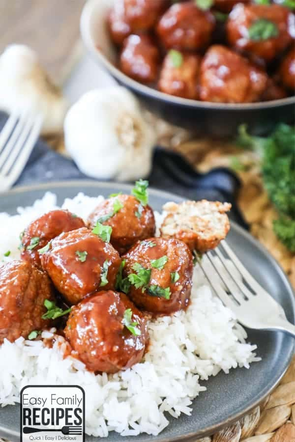 Delicious Honey BBQ Chicken Meatballs are a crowd pleaser.