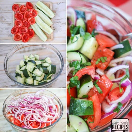 Try this delicious and flavorful cucumber tomato salad